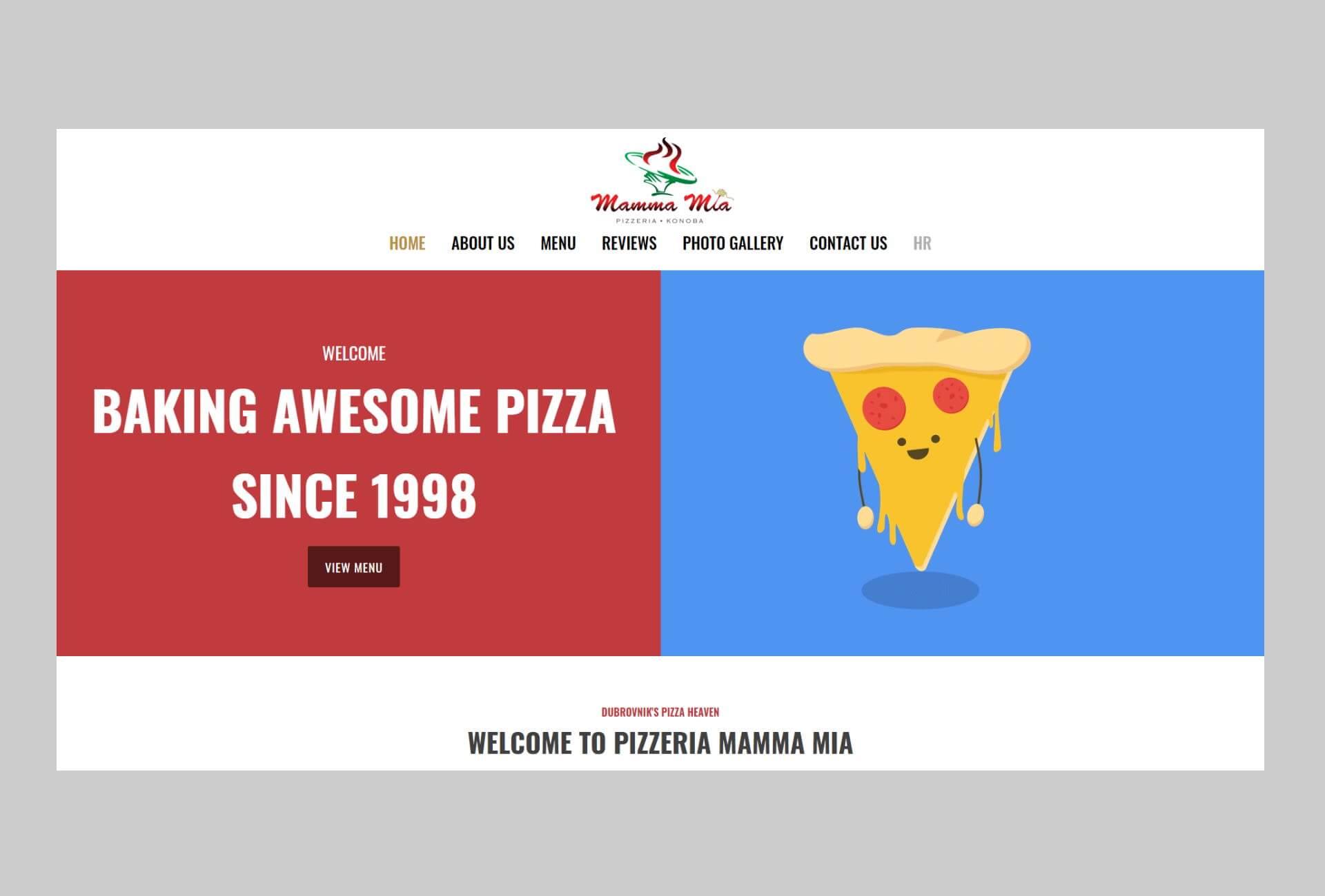 Pizzeria Mamma Mia Dubrovnik Web Stranica